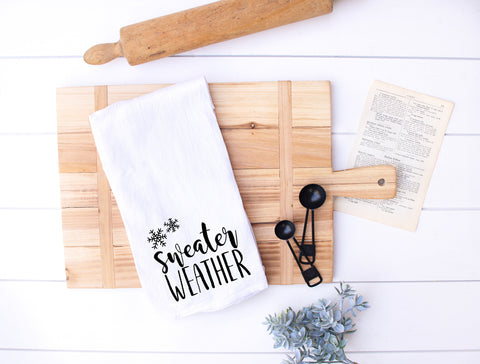 Sweater Weather Flour Sack Kitchen Towel