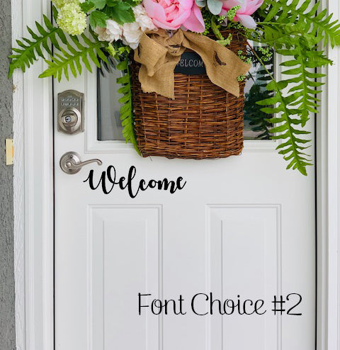 Welcome vinyl decal font #2