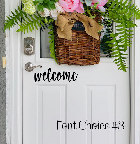 Welcome vinyl decal font #3
