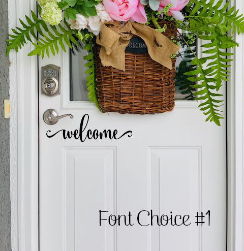 Welcome vinyl decal font #1