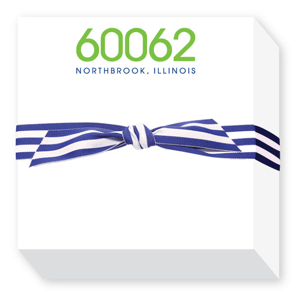 Zip Code Notepads Green and Blue