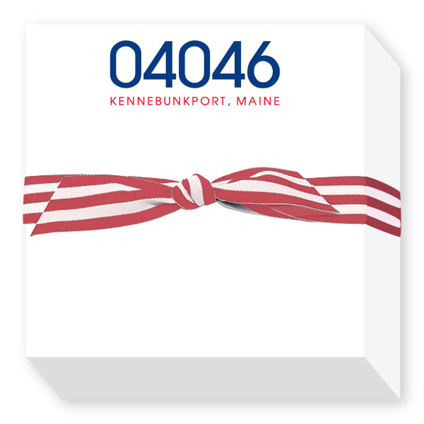 Zip Code Notepads in Red and Blue
