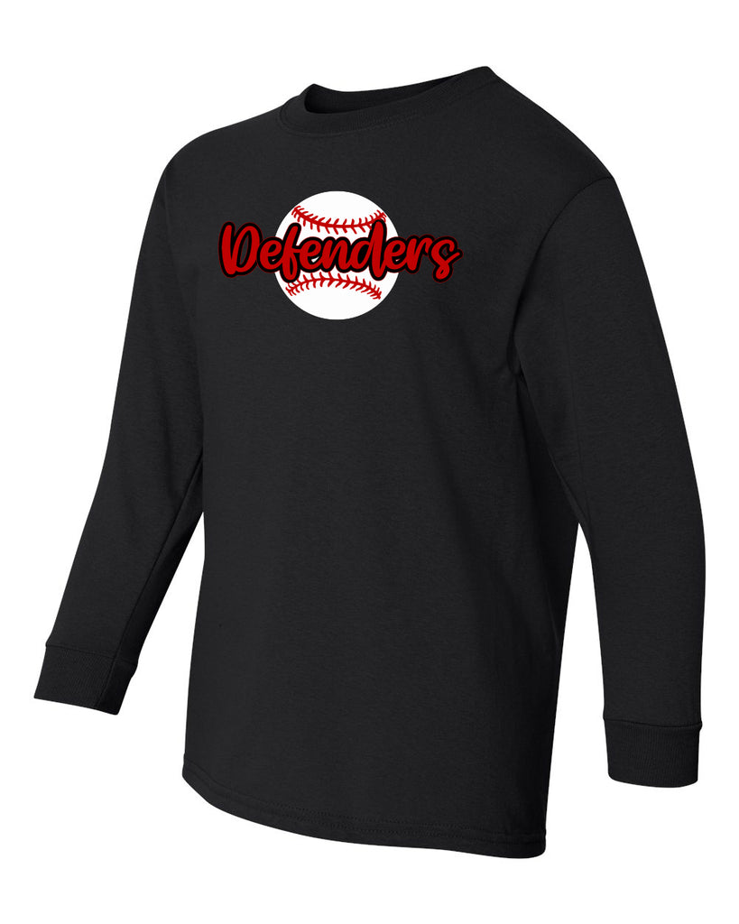 Defenders 2019 Baseball New Spirit Wear Gildan Heavy Cotton-Long Sleeve YOUTH SIZES