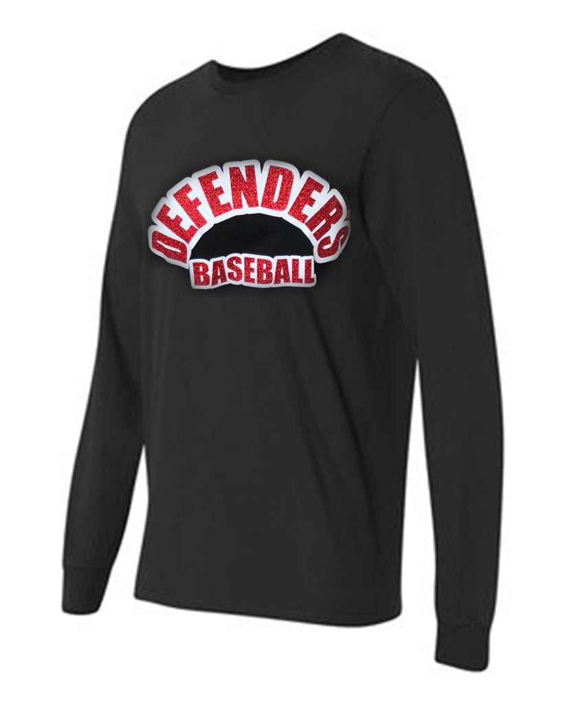 Defenders Baseball Spirit Wear Fruit of the Loom Long Sleeve T-shirt