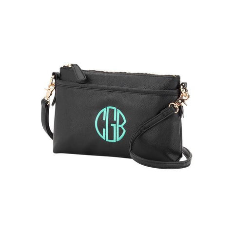 Black Monogram Crossbody Purse