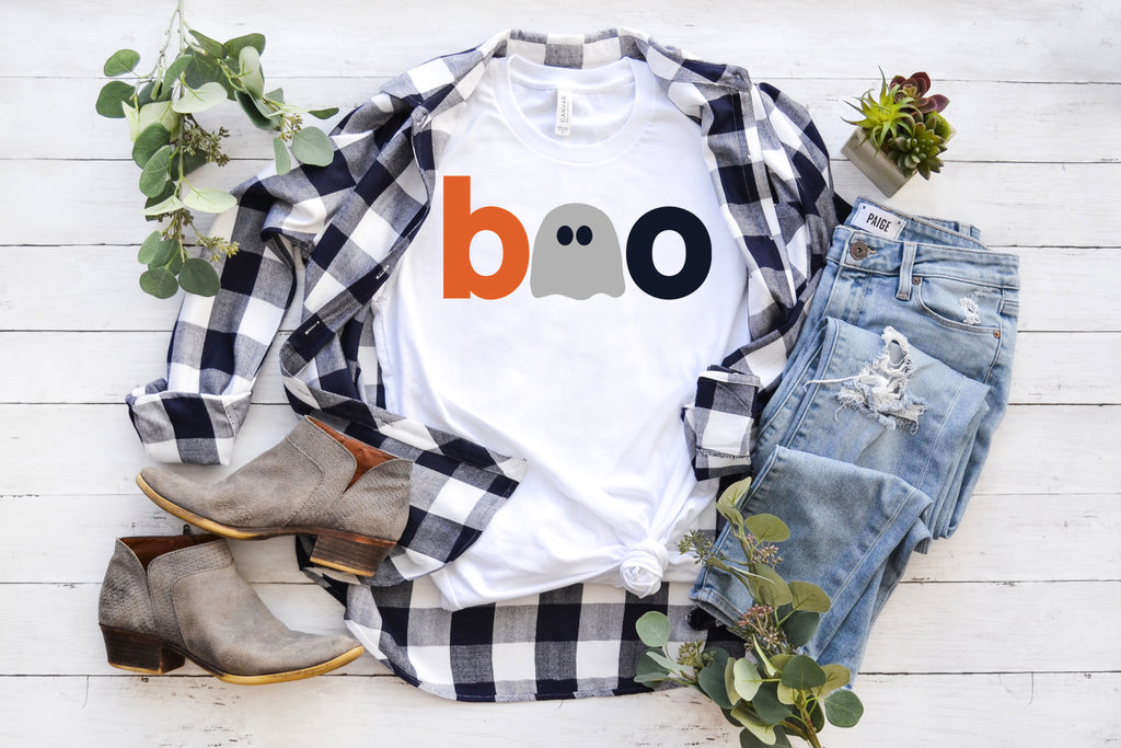 Boo T-Shirt on White.