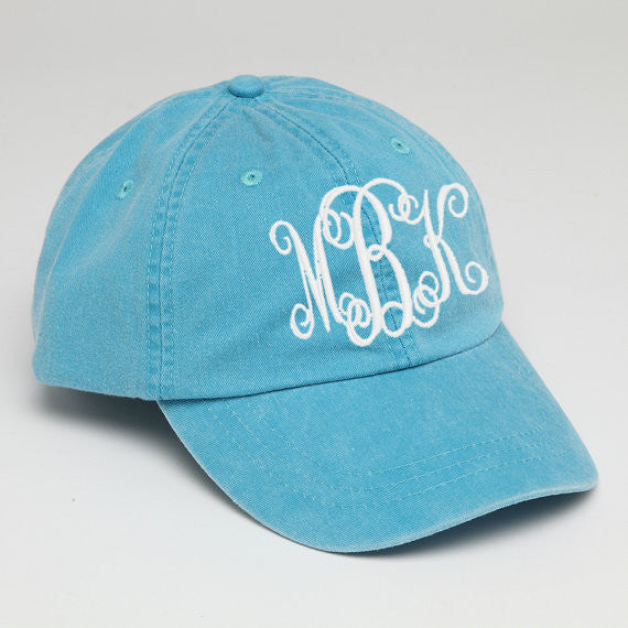 Customized Baseball Hat-Caribbean Blue