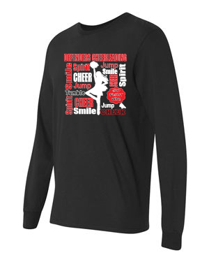 Defenders  Cheer Collage Spirit Wear -Fruit of the Loom Long Sleeve T-shirt