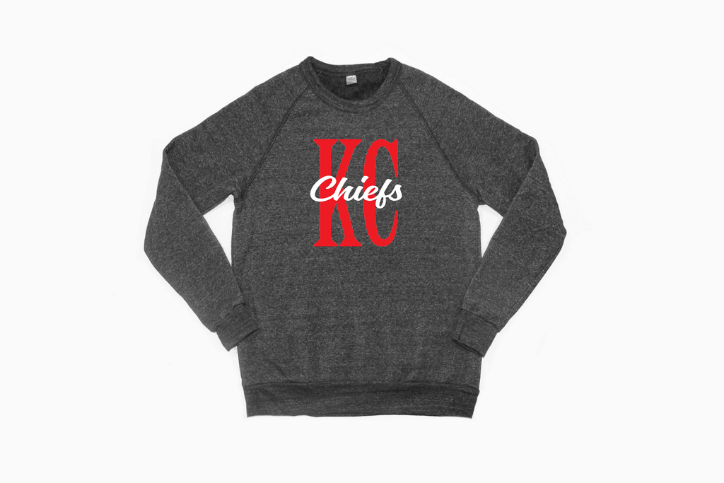 Chiefs Block Letter Sweatshirt-Alternative Champ Eco Fleece