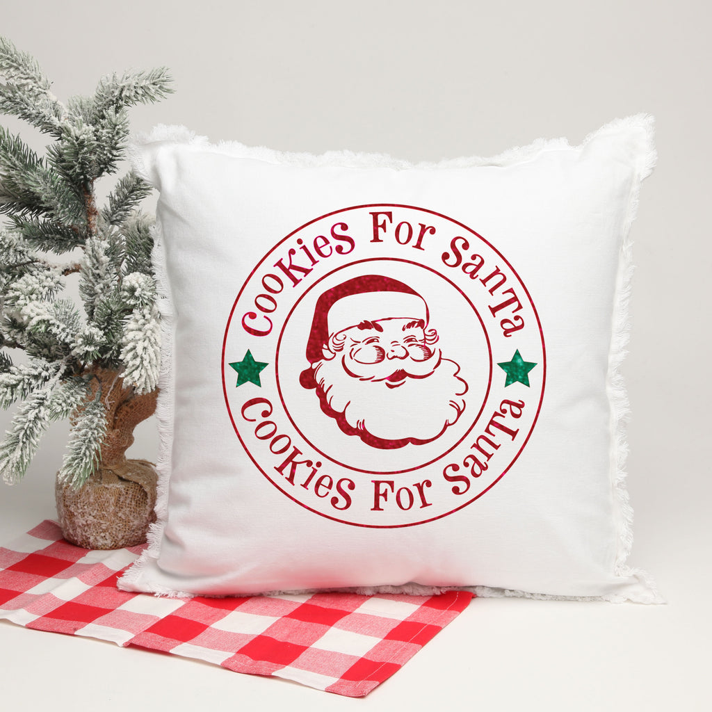 Cookies for Santa 18 X 18 Pillow with Insert