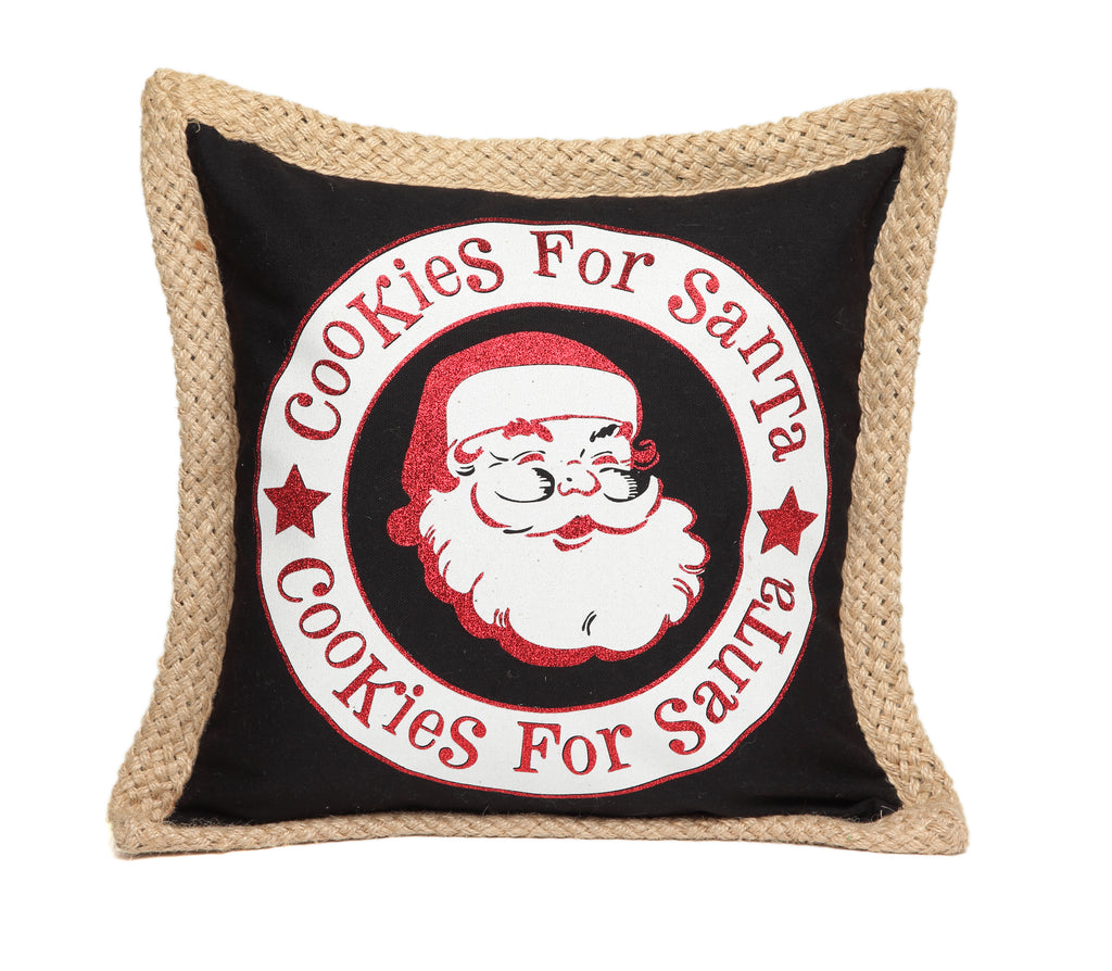 Christmas Cookies For Santa Pillow Cover for 18 x 18 Pillow Insert