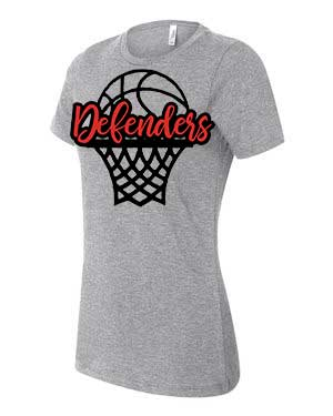 Defenders Basketball Spirit Wear T-Shirt -Bella Canvas Women's T-Shirt