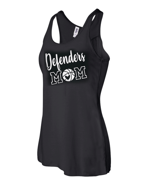 Defenders Basketball Mom Spirit Wear T-Shirt -Bella Canvas Flowy Racer Back Tank