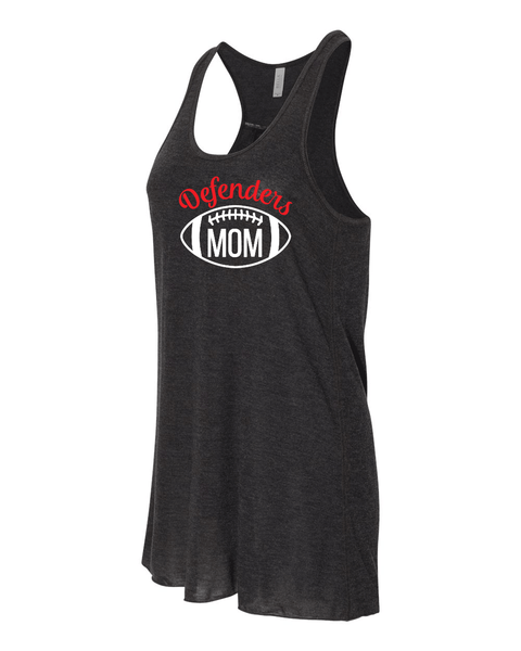 Defenders Mom Football Helmet-Bella Canvas Flowy Racer Back Tank