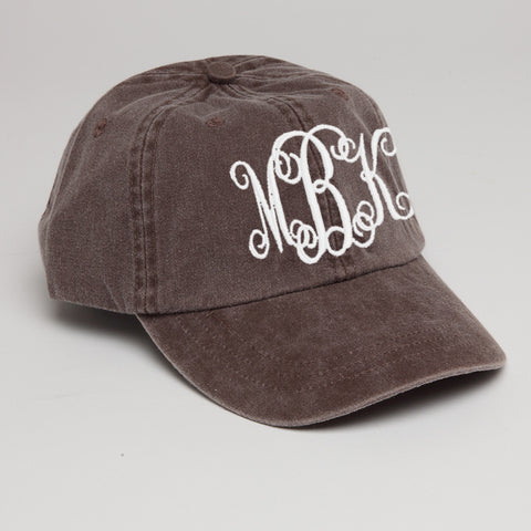 Monogram Baseball Hat-Expresso (Brown)