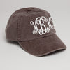 Monogrammed Baseball Hat Expresso Brown