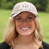Expresso (Brown) Monogrammed Hat on Model