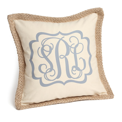 Monogrammed Pillow Cover With Frame