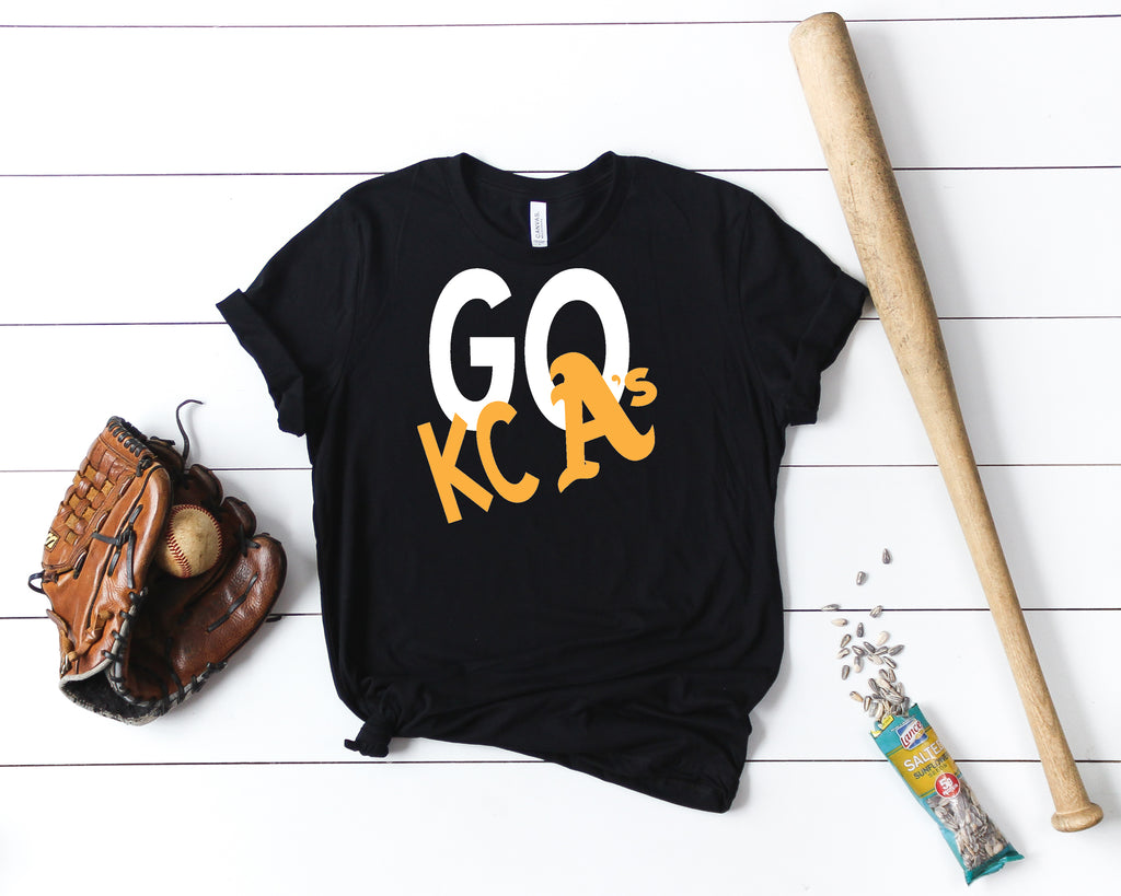 Let's GO KC A's Uni-sex Short Sleeve t-shirt, Spirit Wear