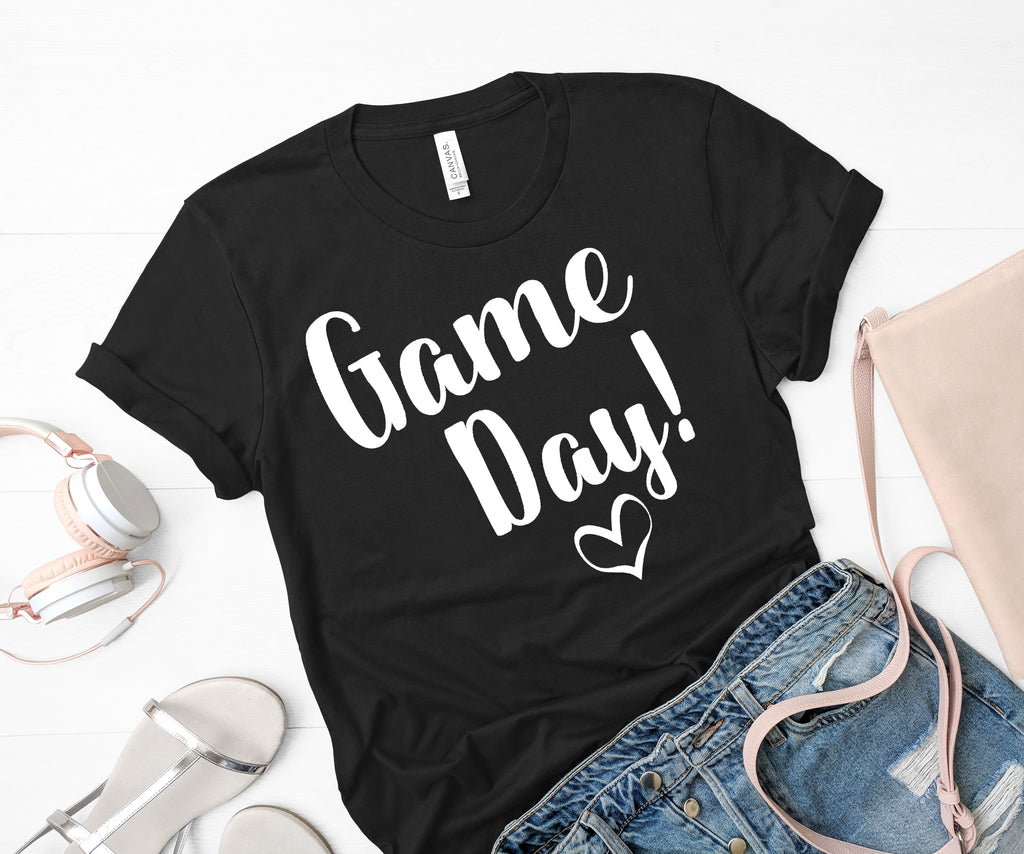 Game Day Shirt! White Letters on Black Shirt