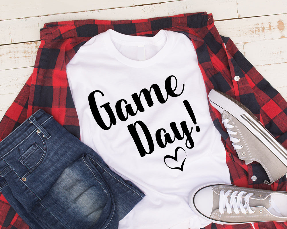 Game Day Shirt! Black Letters on White Shirt