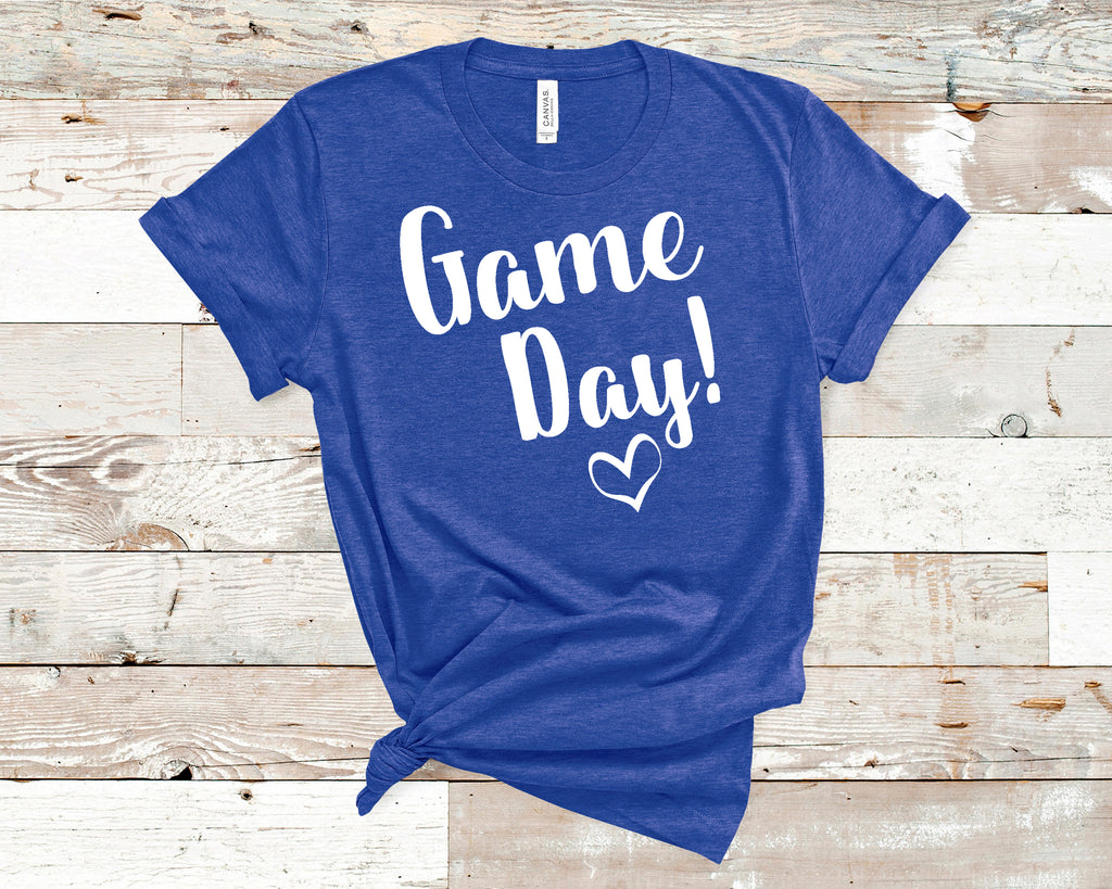 Game Day Shirt! White Letters on Blue Shirt