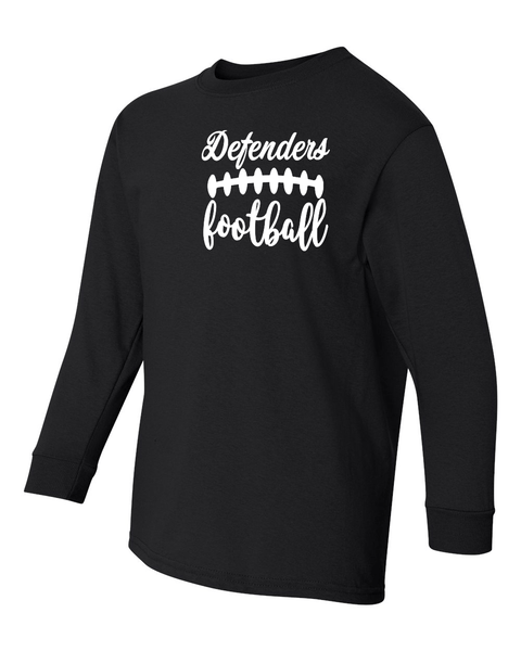Defenders Spirit Wear Foot Ball Laces-Gildan Heavy Cotton-Long Sleeve YOUTH SIZES