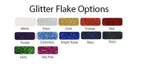 Glitter Flake Color Options