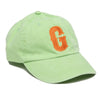 Lime green Monogrammed single letter hat