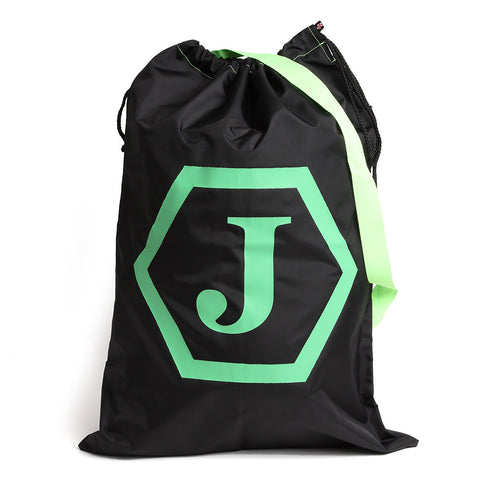Navy and Green Monogram Hexagon Laundry Sack