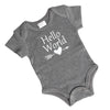 Hello World onesie gray