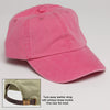 Hot Pink Hat with adjustable leather strap
