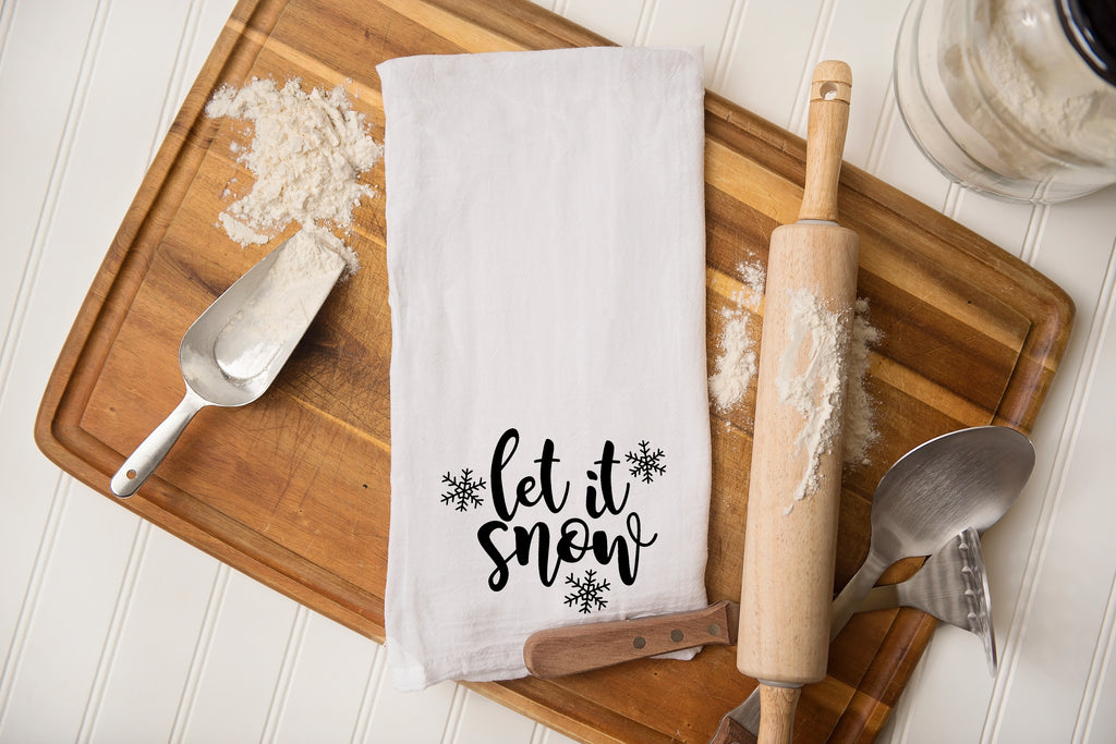 Let it Snow Flour Sack Kitchen Towel