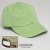 Lime Green Baseball Hat with Adjustable Strap