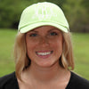 Lime Green Monogrammed Hat on Model