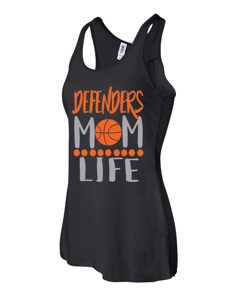 Defenders Mom Life Spirit Wear T-Shirt -Bella Canvas Flowy Racer Back Tank