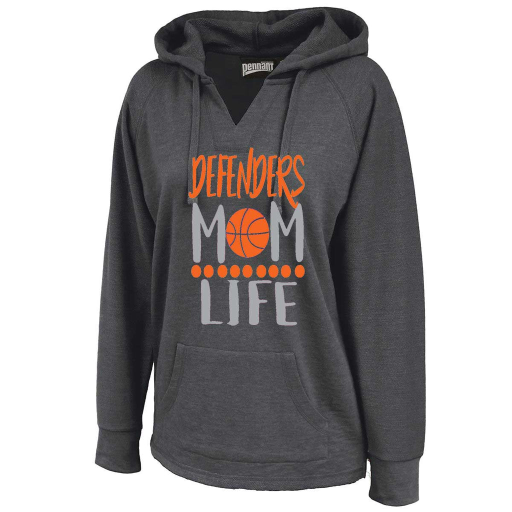 Defenders Mom Life Basketball Sweatshirt -Pennant Sportswear Women's Volley Hoodie Black