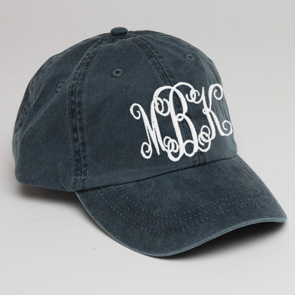 Personalized Baseball Hat Navy Blue