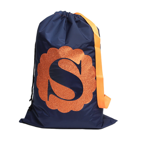Navy Laundry Sack with glitter
