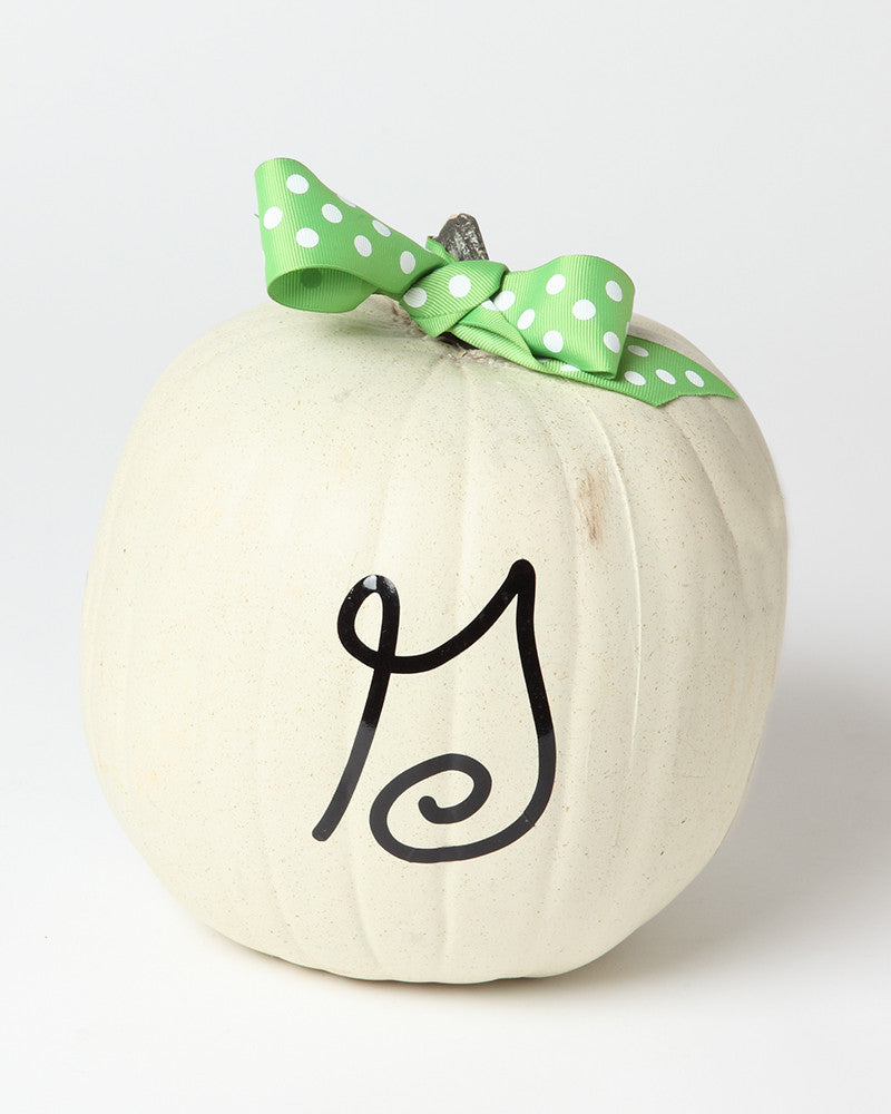 Single Letter Monogram on Pumpkin Vinyl