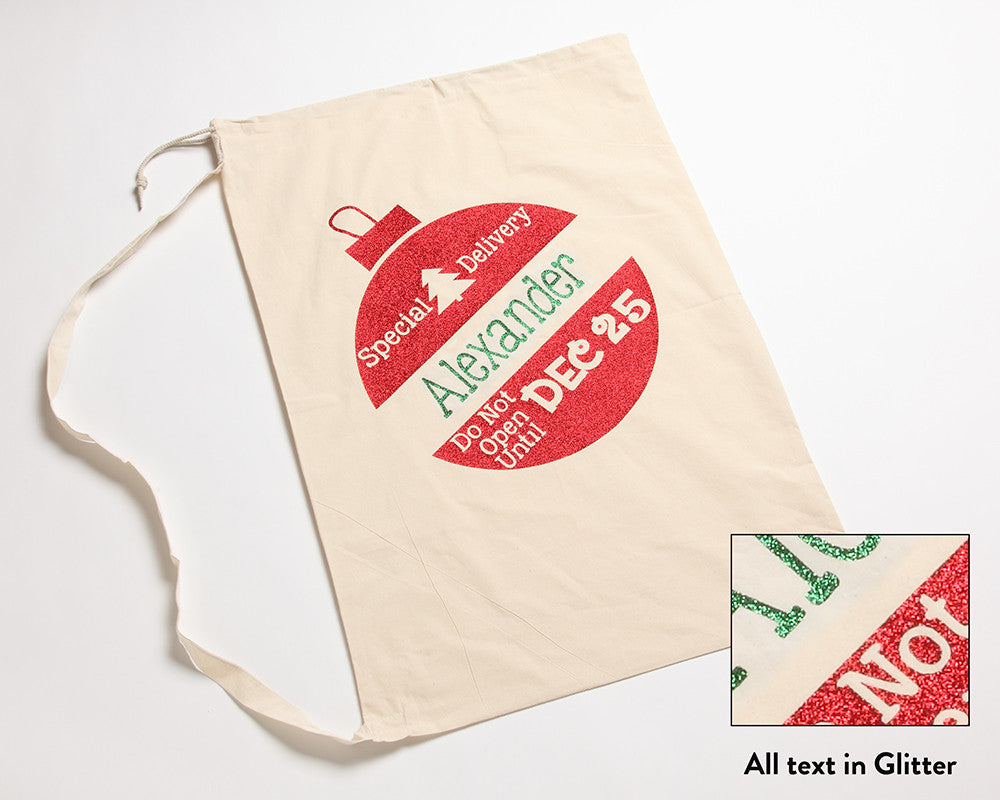 Santa Sack Ornament Design Red