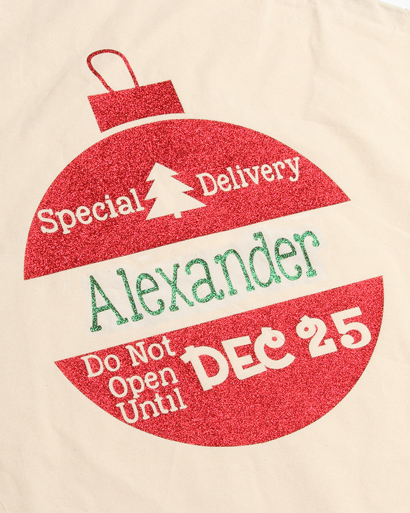 Santa Sack with Ornament Design