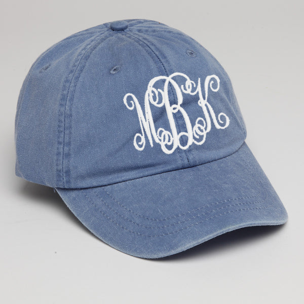 Customized Baseball Hat in Periwinkle Blue