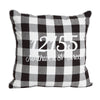 Black and White Buffalo Check Zip Code Pillow