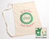 Green Polka Dot Santa Sack Flat view