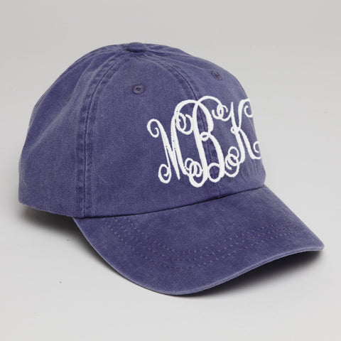 Monogram Baseball Hat-Purple