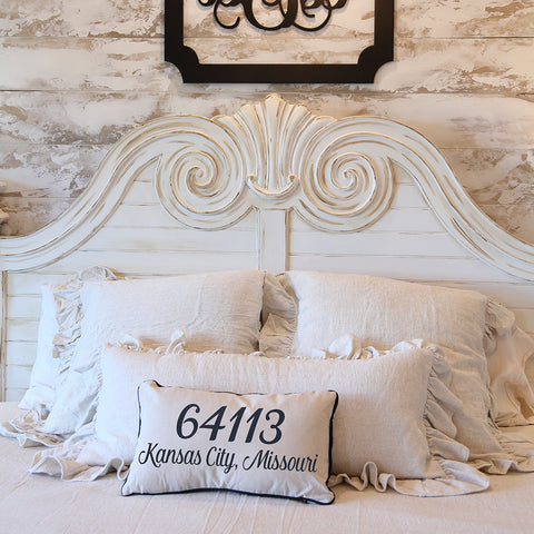 Zip Code Pillow with Insert,  Zip Code, City and State