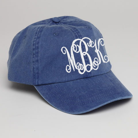 Monogram Baseball Hat-Royal Blue