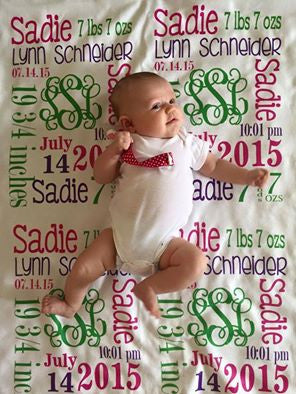 Personalized Baby Blankets For Baby Girl