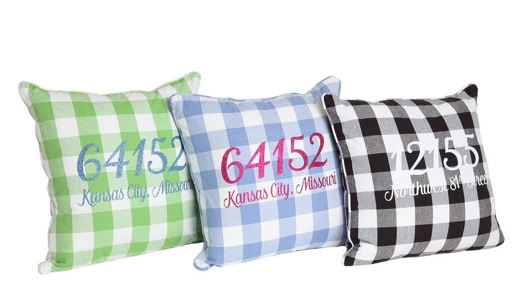 Buffalo Check Zip Code Pillows Group